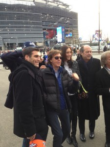 Paul McCartney w/ VIP guests at the Super Bowl